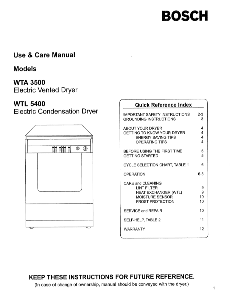 User Manual For Bosch Appliances Wtl 5400 A User Manual Servicing Manual Settings And Specifications Ofbosch Appliances Wtl 5400 User Manuals And Advice For Your Devices User Manual Info