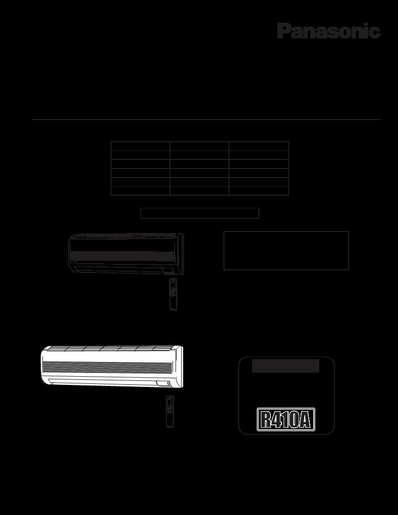 panasonic air conditioner user manual