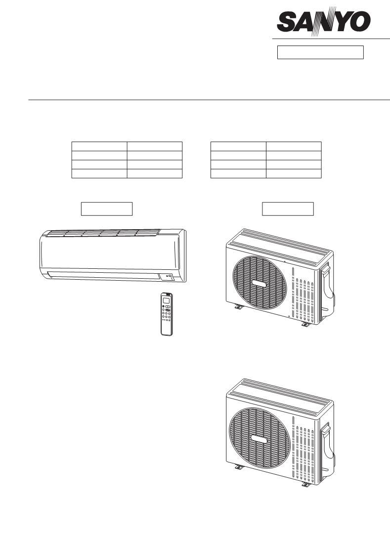 manual de uso de sanyo air conditioner sanyo split system
