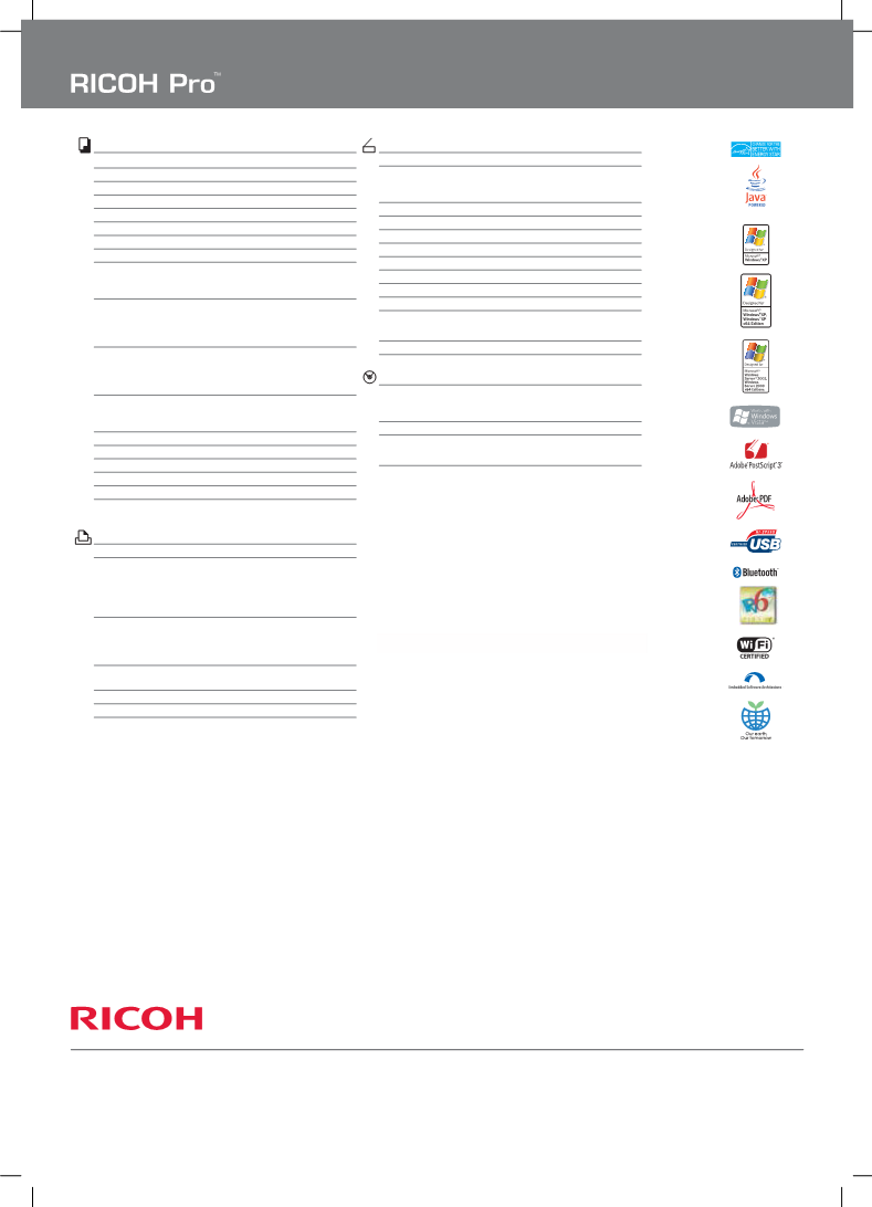 Mode d'emploi Ricoh PRO 907EX - manuel d'utilisation, manuel