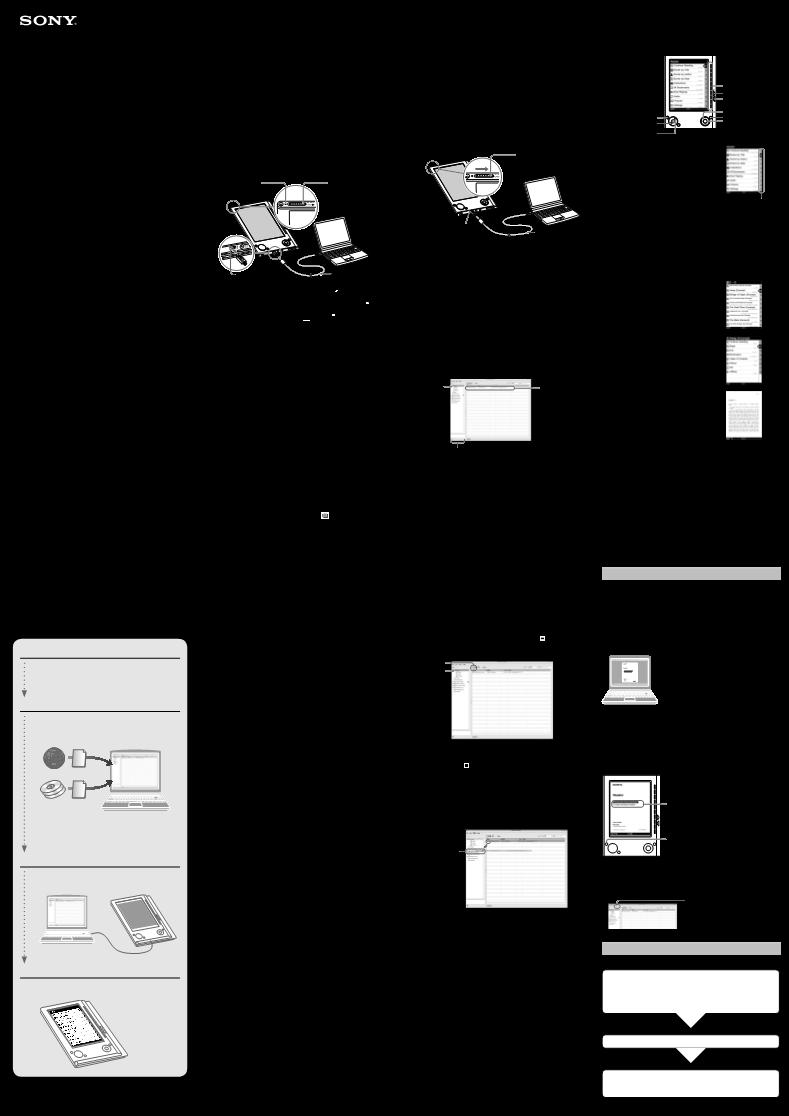 Sony portable reader system prs 505 инструкция