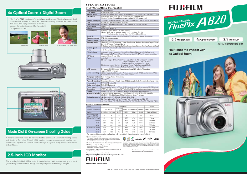 fujifilm finepix xp20 user manual