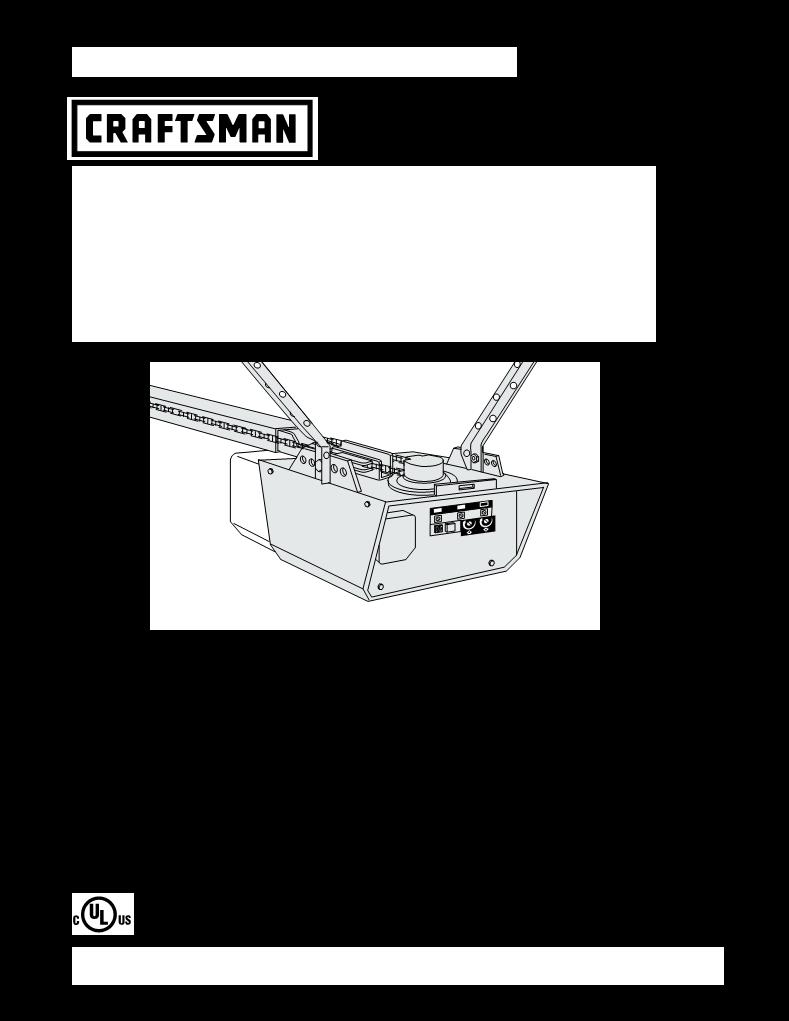 User Manual For Sears Garage Door Opener 13953960srt A User