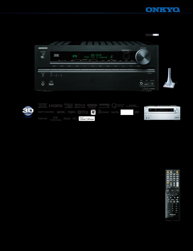 Mode d'emploi Onkyo Home Theater System TX-NR609 - manuel d