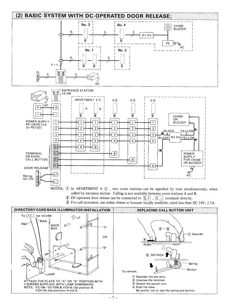 User Manual For Aiphone Intercom System Vc K A Wiring Diagram And Installation Guide