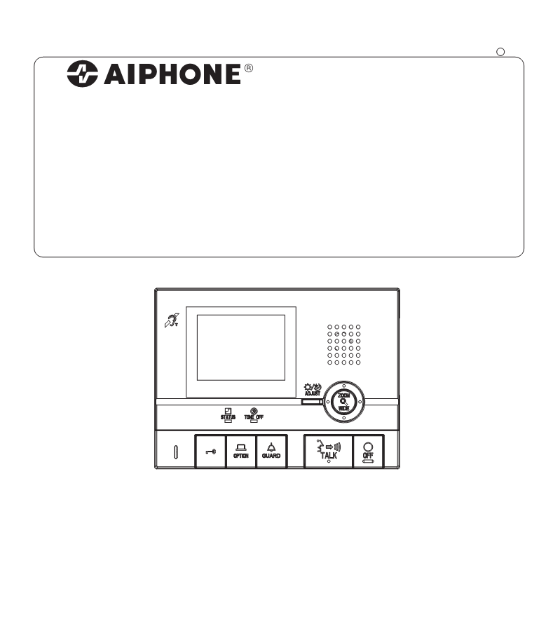 User manual for Aiphone GT-1C-L - a user manual, servicing ... on