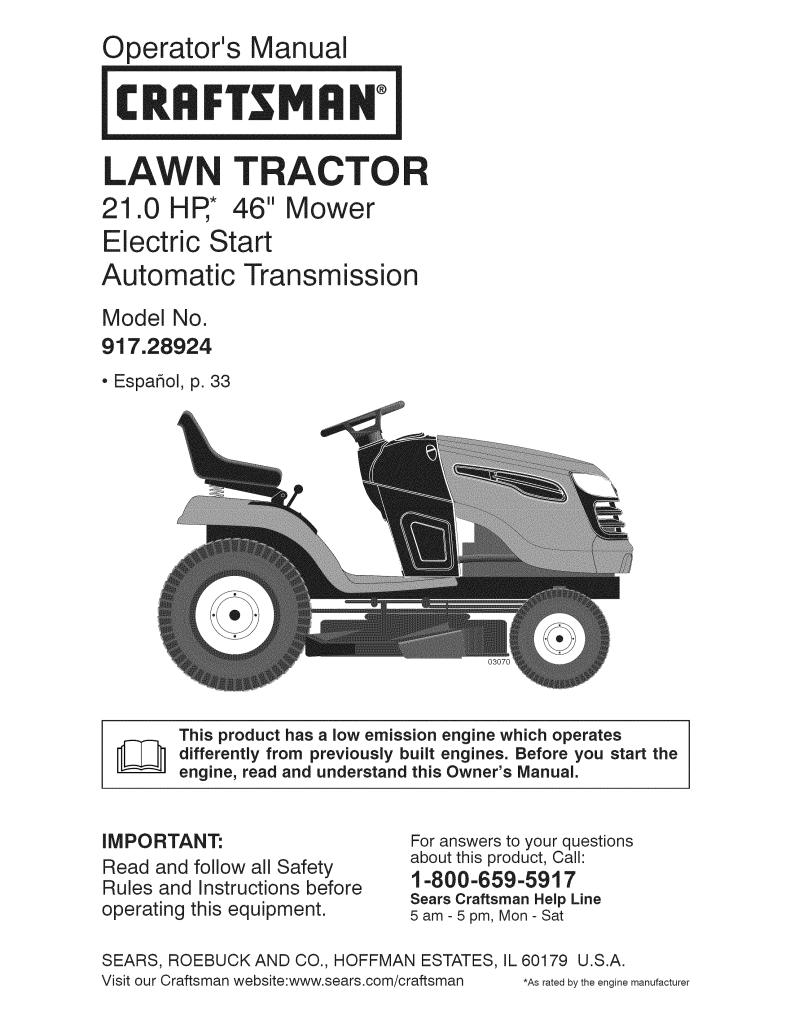 User manual Craftsman 917.289240