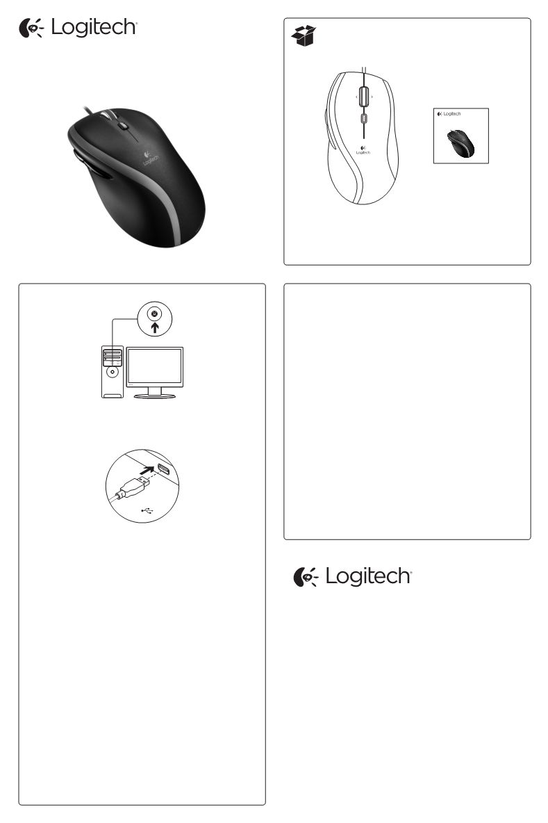 User manual for Logitech Corded Mouse M500 - a user manual