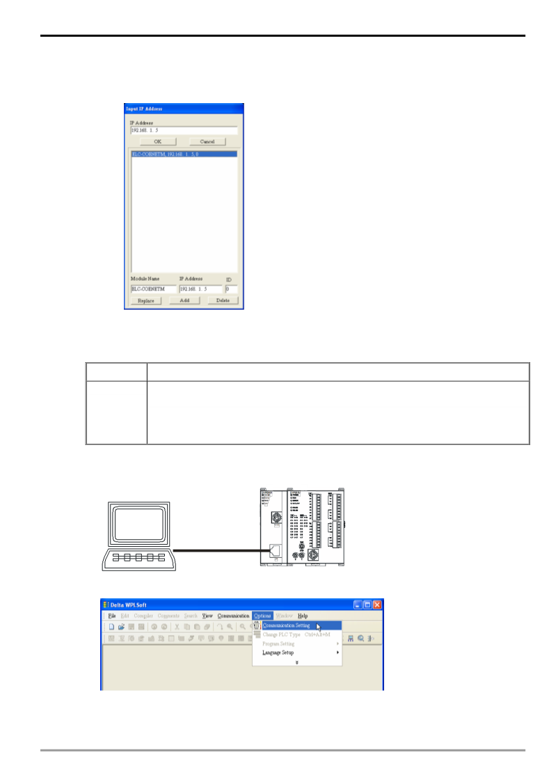 Delta Plc Communication Settings