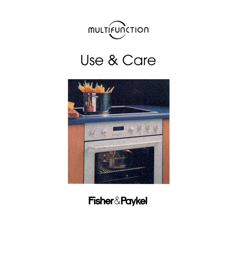 fisher paykel oven instruction manual
